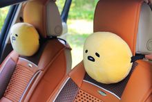 super cute new gudetama lazy egg cartoon car head rest pillow cushion birthday Christmas gift