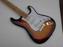 free shipping Top quality stratocaster Guitar SUNSET Sunburst Natural wood GoldEN hardware electric guitar guitarra