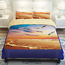 Twin/Queen/King Size Customized 3D Bedding Set Landscape Bed Sheet Duvet Cover Pillowcases EMS/UPS/FedEx(China)