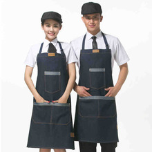 Cowboy apron service worker clothes summer women hanging neck(China)