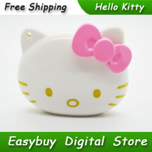 50pcs/lot 100% Brand New High Quality Mini Fashion Hello Kitty Shaped Card Reader MP3 Music Players Support TF Card