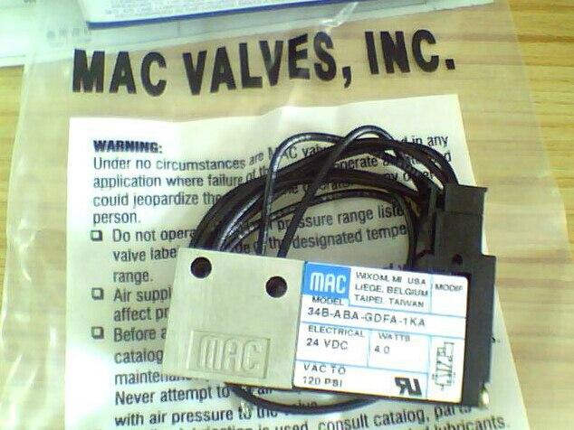 USA MAC genuine original high-speed solenoid valve 34B-ABA-GDFA-1KA  DC24V<br><br>Aliexpress