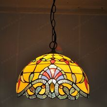 Free shipping 12-inch European-style retro chandelier Baroque Tiffany glass dining restaurant kitchen lighting fixtures