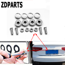 ZDPARTS 16X Car Styling License Plate Nuts Bolts Screws Cover For Ford Focus 2 3 Fiesta Mondeo Kuga Kia Rio Ceed Sportage 2017(China)