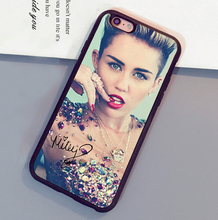 Miley Cyrus signed popular Printed Luxury Mobile Phone Cases For iPhone 6 6S Plus 7 7 Plus 5 5S 5C SE 4S Soft Rubber Back Cover