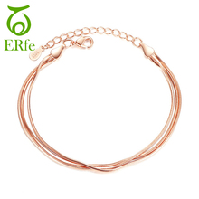 ER Luxury Multilayer Snake Bone Bracelet Femme Argent Female Cute Multi Layer Chain Braclet Women Hand Accessories SB001