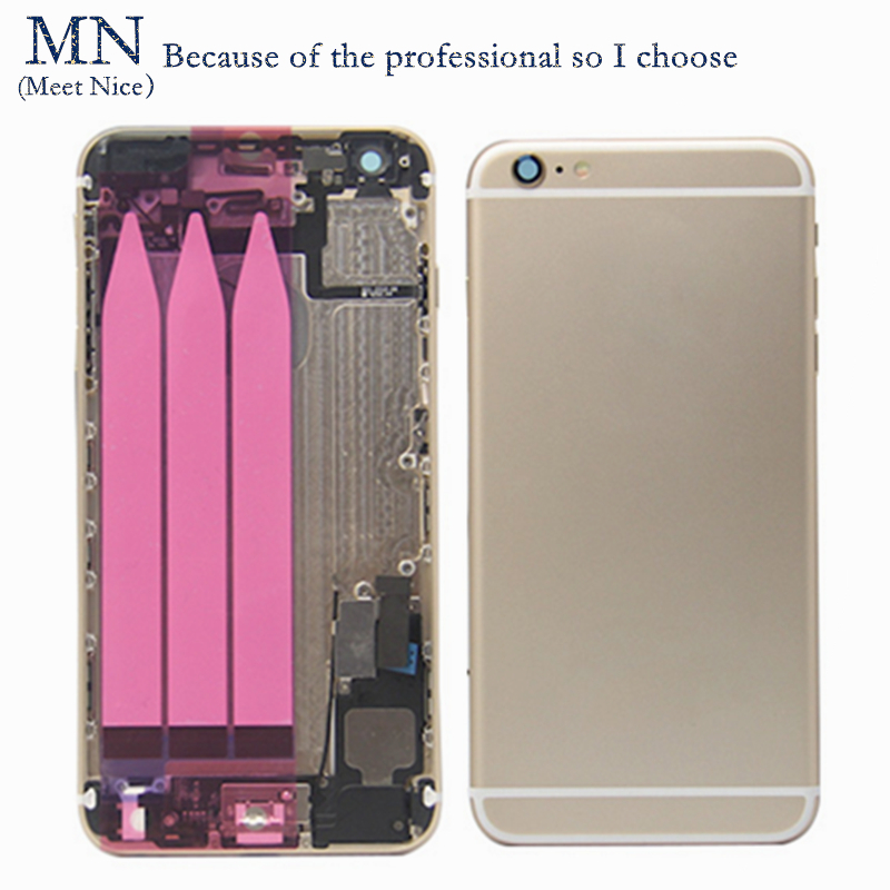 Brand MN Replacement iPhone 6 6G Back Battery Housing Cover Assembly Full small parts Sim Card Tray+Buttons+Flex Cables  -  Good service Store store