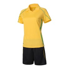 2016 New Style Customized  Name And Number Adult Women Short Sleeve Soccer Jersey  Lady  Soccer Suit  Girls Soccer Uniforms