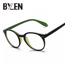 2017 fashion men and women Brand design optical frames woman eyeglasses frames plain glass spectacles Imitation Wood 5 colors 14