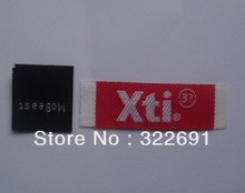 Self Adhesive Heat Transfer Private woven label Clothing   free shipping