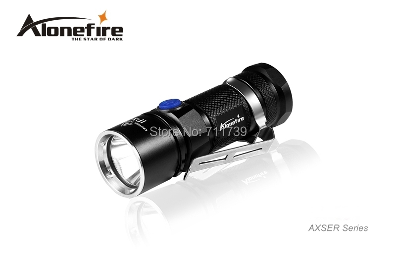 AloneFire AK03 AXSER Series CREE XM-L2 LED 3 mode Lightweight mini led flashlight torch lamp For 1x18650 rechargeable<br>