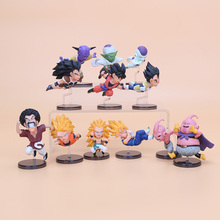 6pcs/set anime Dragon Ball Z 12cm WCF The Historical Characters dragonball PVC Action Figure Toys Model Collect Figurines Doll