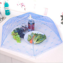 2016 Foldable Food Covers Umbrella Style Anti Fly Mosquito Net Tent Kitchen cooking Tools Meal Cover Table Mesh Food Cover(China)