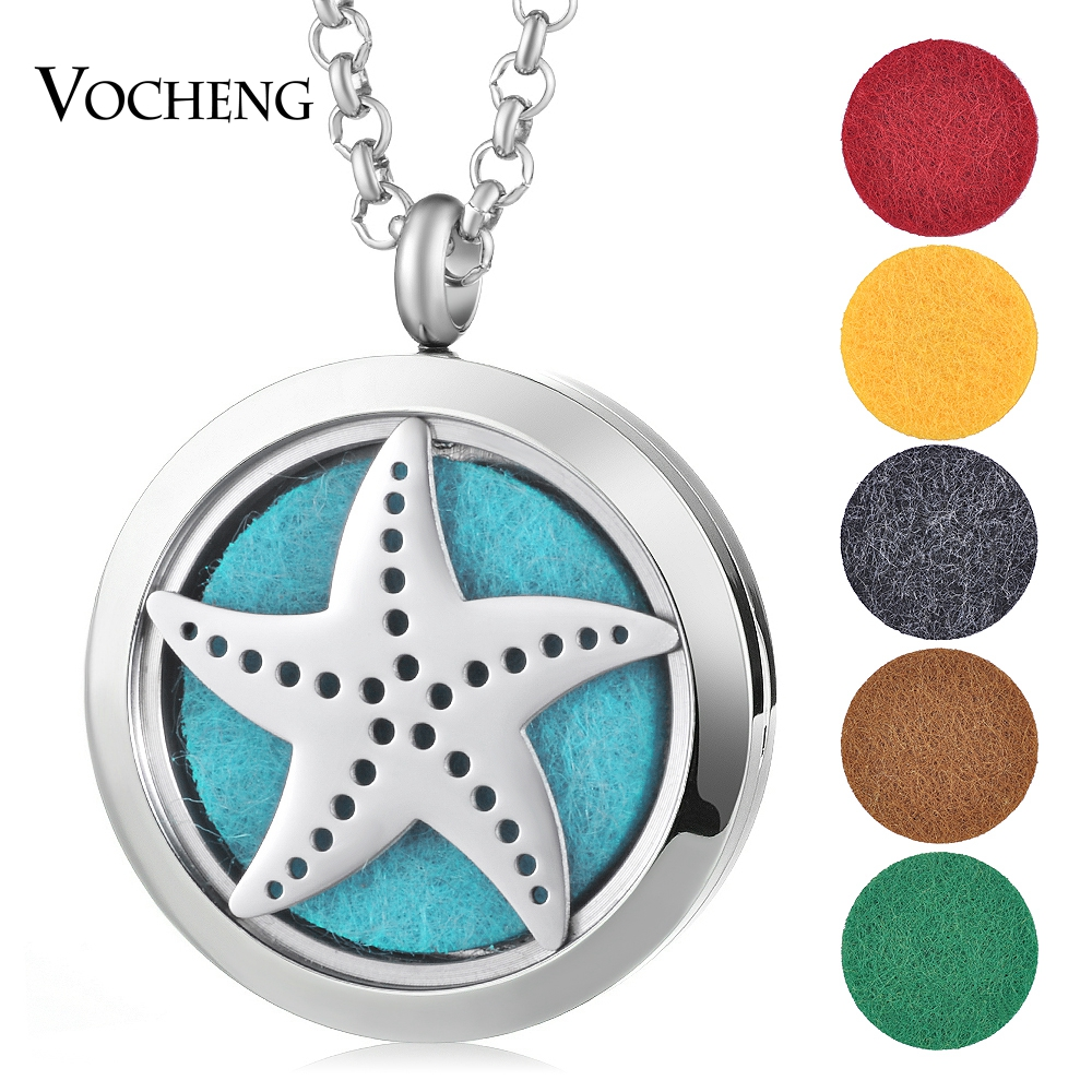 10pcs/lot  (30mm) Aromatherapy/Essential Oil surgical Stainless Steel Perfume Diffuser Locket Jewelry VA-458*10