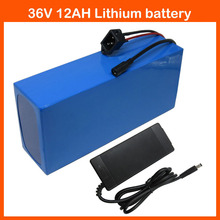 36V 12AH Electric Bike battery 36V 500W Lithium ion Bike Battery with PVC case 15A BMS 42V 2A charger Free customs fee