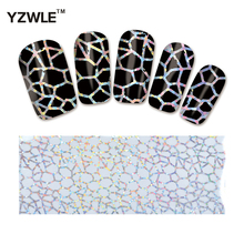 YZWLE 1 Pack(10Pcs) DIY Nail Art Transfer Foil Decal Beauty Craft Decorations Accessories For Manicure Salon #XKT-N01(China)