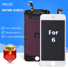 10/PCS MLLSE For iPhone 4/5S/5C/6G/6 Plus/6S/6S+ Screen Replacement Repair Glass Display with Touch Screen Digitizer Via DHL
