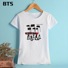 Buy BTS Depeche Mode Summer T-shirt Women Brand Tees Tops Short Sleeve Female Style High Cotton Girls Woman T Shirt 5 Color for $7.87 in AliExpress store