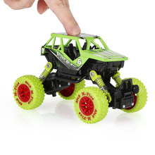 Classic Pull Back Car 1/36 Alloy 4WD Big Wheels Shock Resistant Off Road Climbing Car 2 Doors Open Pull Back Vehicle Toy Truck(China)