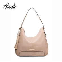 AMELIE GALANTI 2017 new socialite women shoulder shapes of bag half moon with slit pocket versatile to keep soft free shipping