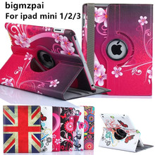 New Arrival Color Mix PU Leather Flip Case For Apple iPad Mini 3 2 1 Cases W/Stand Cover For ipad Mini 1 mini2 mini3 Tablet case(China)