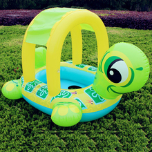 Tortoise Inflatable Swimming Pools Accessories Baby Plastic Kids Children Toddler Baby Seat Float for 0-3years(China)