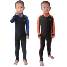 Sun Protective Wetsuit Kids for Boys/Girls Diving Suits Swimsuits One Pieces Surfing Rash Guards Children Swimming Clothes BO