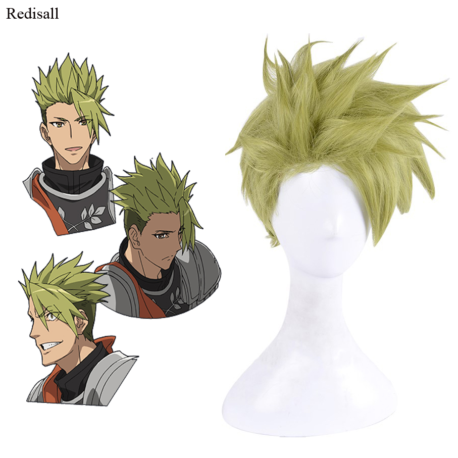 Fate/Apocrypha Fate/Grand Order Achilles Dark Green Wig Synthetic Hair Halloween Cosplay