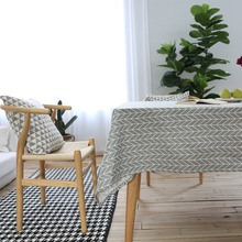 1-Piece Gary Geometric Pinte  Table Cloth Rectangle Table Tablecloth For Dining Linen Table Cover For Tea Table  Home Hotel
