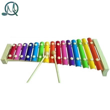 MQ 15 Notes Wooden Hand Knock Piano Xylophone Toy for Kids New Year Christmas Gift