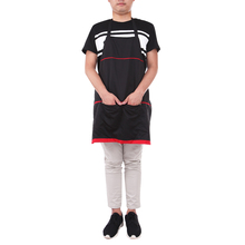 72X68cm Pro Salon Hairdresser Work Apron Capes With Pockets Hairdressing Gown Wraps Barber Hair Cutting Clothes Styling Tools(China)