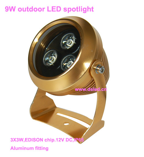 Free shipping !! Waterproof,good quality,high power 9W outdoor LED projector light,outdoor LED spotlight,DS-06-25,3X3W,12VDC<br>