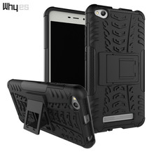 Whyes For Xiaomi Redmi 4A Case Phone Cover Impact Resistant Defender ShockProof Bags Silicone And PC Hybrid Dual Layer Hard Case(China)