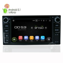 IOKONE Brand Android 5.1 System Car DVD Player for Toyota  With DVD Radio GPS Support 4G Connect  mirror link Parrot Bluetooth