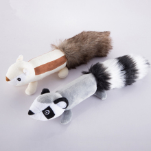 Dog Toys Squeak Animals Squirrel/Skunk Sound Toys Anti-Bite Playable High Quality Funny Interactive Pet Toy for Cats & Dogs 30cm(China)