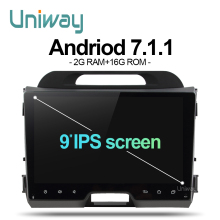 uniway AZP9071 2G+16G 2 din android car dvd for kia sportage 2014 2011 2009 2010 2013 2015 car radio stereo multimedia player(China)