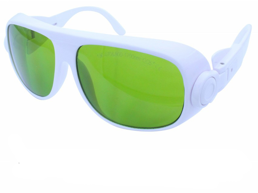 190-470 &amp; 800-1700nm laser safety glasses high VLT and O.D 4+  for blue laser and IR 808nm, 980nm, 1064nm lasers<br>