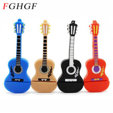 FGHGF USB 2.0 Guitar wholesale pen drive 4GB 8GB 16GB 32GB USB Flash Drive pendrive memory stick u disk free shipping(China)
