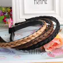 M MISM Modern Hairpiece Headware For Women Three Colors Hair Band Wig Braid Headband For Women Rope Polyester Hair Accessories(China)