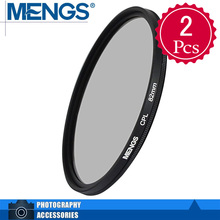 MENGS 2Pcs 82mm CPL Lens Filter & Circular Polarising Filter Protector With Aluminum Frame for DSLR And Camera(14160010101)
