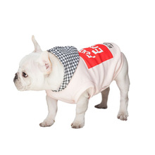2017 Casual Fashion Cotton Dog Hoodies Personality Dog Clothes For Small Dogs Letters Pet Shirts with Caps for Pets