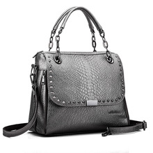New Designer Bags Famous Brand Women Bags 2016 Luxury Handbags Women Messenger Bags Crocodile Leather Shoulder Bag Bolsos A0262(China)