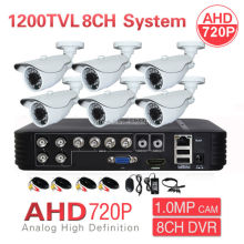 Home CCTV 8CH 1080P 3-IN-1 DVR HVR NVR AHD 720P 1200TVL 6CH Security Camera System IR P2P PC Phone Mobile View Surveillance Kit