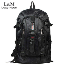 Fashion Men Backpack Waterproof Nylon Travel Rucksack Large Backpacks Black School Bags Teenage Boys Students Bag mochila XA279H