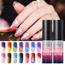 Ellwings 1pcs New Product Long-lasting Gel Nail Polish Temperature Change Mood Nail Color UV Gel Polish Art(China)