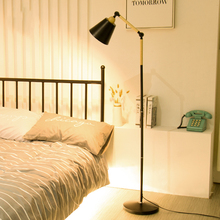New floor lamp modern minimalist LED lamp creative Nordic IKEA living room bedroom study vertical lamp