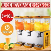 Commercial 18L*3 Tank Frozen Cold Drink Beverage Milk Juice Dispenser Machine(China)