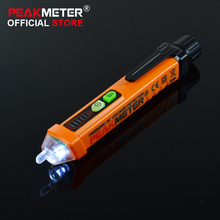PEAKMETER PM8908C 50-60Hz Non contact AC Voltage Detector Tester Meter 12V-1000V Pen style Voltage Circuit Tester(China)