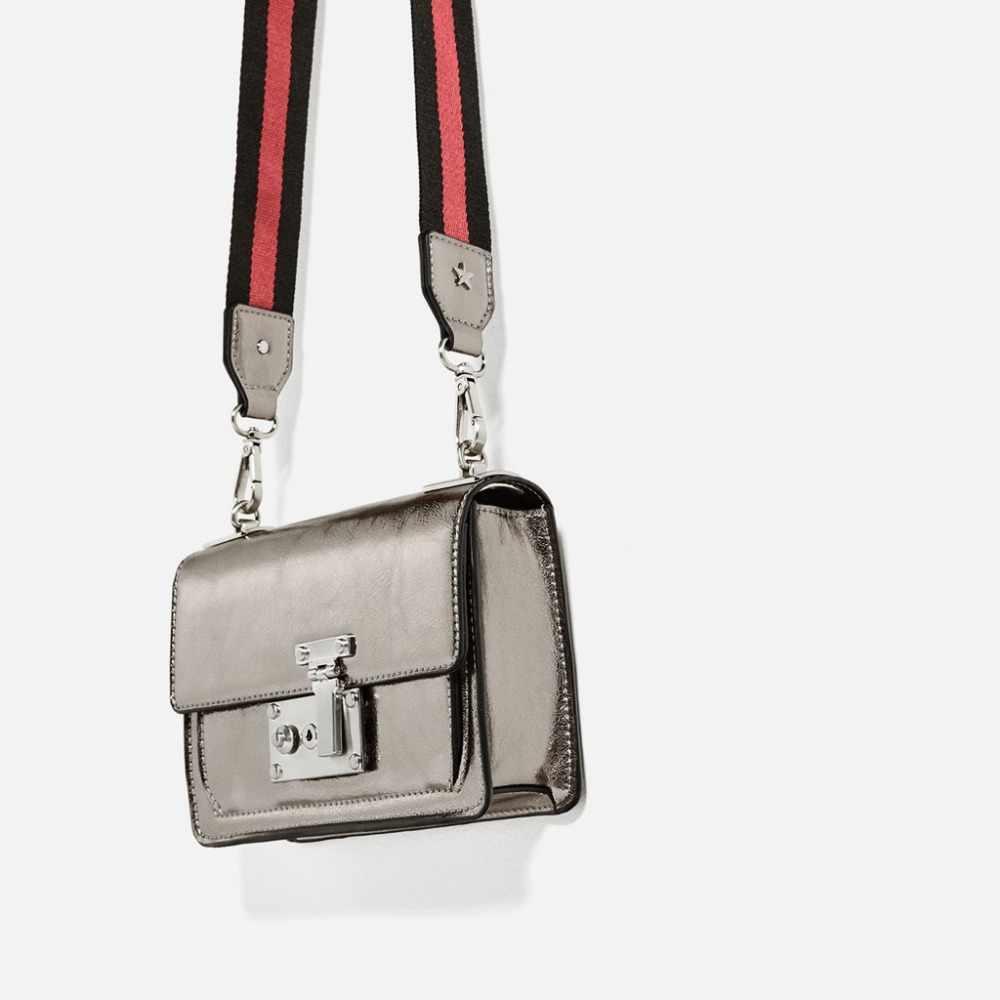 female small vintage silver flap bag mini metal color brief one shoulder bag lady lockbutton messenger bag <br><br>Aliexpress