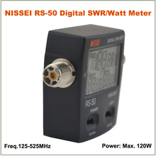 Hot Sale NISSEI RS-50 RS50 Digital SWR/Watt Meter Power Meter 125-525MHz 120W UHF/VHF M Type Connector for 2-way Radio